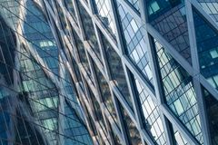 Skyscrapers glass facades in Paris business center La Defense. Urban architecture, modern office buildings. Abstract. Background with sky reflection. City life Stock Photo