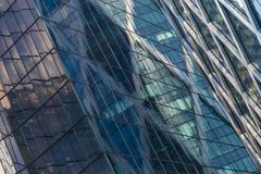 Skyscrapers glass facades in Paris business center La Defense. Urban architecture, modern office buildings. Abstract. Background with sky reflection. City life Stock Image