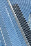 Skyscrapers glass facades in Paris business center La Defense. Urban architecture, modern office buildings. Abstract. Background with sky reflection. City life Royalty Free Stock Photos