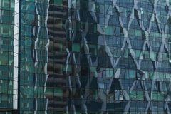 Skyscrapers glass facades in Paris business center La Defense. Urban architecture, modern office buildings. Abstract Royalty Free Stock Image