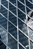 Skyscrapers glass facades in Paris business center La Defense. Urban architecture, modern office buildings. Abstract Royalty Free Stock Images