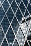 Skyscrapers glass facades in Paris business center La Defense. Urban architecture, modern office buildings. Abstract. Background with sky reflection. City life Royalty Free Stock Image