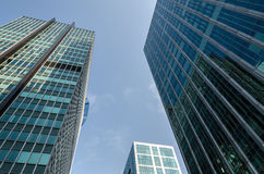 Skyscrapers of glass and mirrors Stock Image