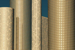 Skyscrapers in golden light Royalty Free Stock Photography