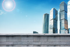 Skyscrapers with grey wall Stock Images