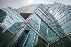 Skyscrapers hacks clouds Stock Photography