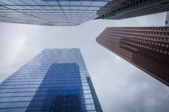 Skyscrapers hacks clouds Royalty Free Stock Photography