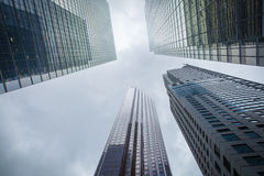 Skyscrapers hacks clouds Royalty Free Stock Images