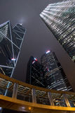 Skyscrapers on Hong Kong Royalty Free Stock Photos