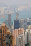 Skyscrapers on Hong Kong Island Royalty Free Stock Images