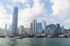 Skyscrapers at the Hong Kong Island Royalty Free Stock Photos