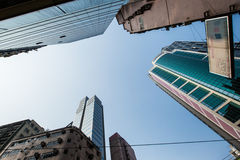 Skyscrapers in Hong Kong Stock Photography