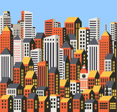 Skyscrapers and houses Royalty Free Stock Image