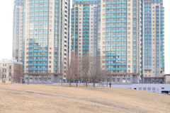 Skyscrapers housing complex Rechnoy. Stock Image