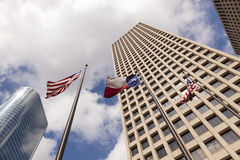 Skyscrapers in Houston downtown, Texas Royalty Free Stock Photo