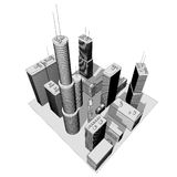 Skyscrapers - illustration Stock Photography