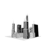 Skyscrapers - illustration Royalty Free Stock Images