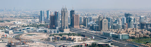 Skyscrapers In Dubai, View On Dubai Internet City Royalty Free Stock Images