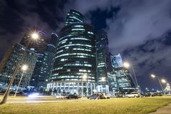 Skyscrapers of the International Business Center City, Moscow, Russia stock image