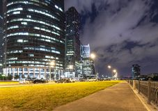 Skyscrapers of the International Business Center City, Moscow, Russia stock photos
