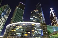 Skyscrapers of the International Business Center City, Moscow, Russia stock images