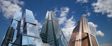 Skyscrapers of the International Business Center (City), Moscow, Russia Stock Images