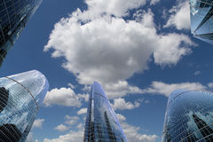 Skyscrapers of the International Business Center (City), Moscow, Russia Stock Photo