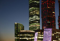 Skyscrapers International Business Center, Moscow Royalty Free Stock Photos