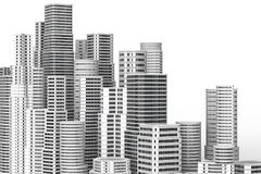 Skyscrapers isolated on white background. 3D illustrating. Skyscrapers isolated on white background. 3D illustrating Stock Photos