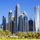 Skyscrapers at jumeirah beach Royalty Free Stock Photo