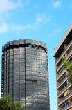 The skyscrapers of La Caixa Headquarters complex on Avinguda Diagonal Royalty Free Stock Photos