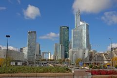 Skyscrapers of La Defense busines district, paris, france Stock Photography