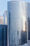Skyscrapers of La Defense, Paris, France. PARIS, FRANCE - March 27, 2014: Skyscrapers of La Defense -Modern business and residential area in the near suburbs of Stock Photo