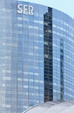Skyscrapers of La Defense, Paris, France. PARIS, FRANCE - March 27, 2014: Skyscrapers of La Defense -Modern business and residential area in the near suburbs of Royalty Free Stock Photography