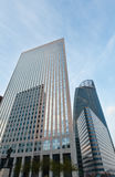 Skyscrapers of La Defense, Paris, France. PARIS, FRANCE - March 27, 2014: Skyscrapers of La Defense -Modern business and residential area in the near suburbs of Royalty Free Stock Images