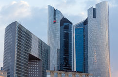 Skyscrapers of La Defense, Paris, France. PARIS, FRANCE - March 27, 2014: Skyscrapers of La Defense -Modern business and residential area in the near suburbs of Royalty Free Stock Image