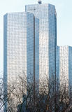 Skyscrapers of La Defense, Paris, France. PARIS, FRANCE - March 27, 2014: Skyscrapers of La Defense -Modern business and residential area in the near suburbs of Royalty Free Stock Photo