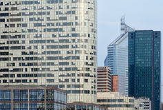Skyscrapers of La Defense, Paris, France. PARIS, FRANCE - March 27, 2014: Skyscrapers of La Defense -Modern business and residential area in the near suburbs of Stock Photography