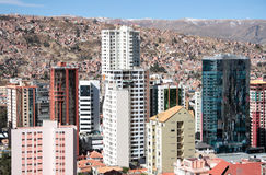 Skyscrapers of La Paz in Bolivia Stock Photography