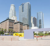 Skyscrapers LA. 03 September 2016. Los Angeles - United States of America. Empty Dowtown of Los Angeles due to hot weather Stock Photo