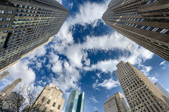 Skyscrapers. Located in Manhattan, New York Stock Image