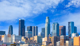 Skyscrapers of Los Angeles skyline panorama, California Stock Image