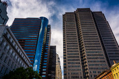 Skyscrapers in Lower Manhattan, New York. Stock Photography