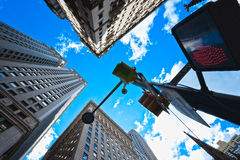 Skyscrapers in Lower Manhattan, New York City Royalty Free Stock Images