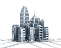Skyscrapers and magistrals Royalty Free Stock Image