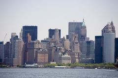 Skyscrapers of manhattan Stock Photos