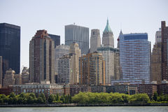 Skyscrapers of manhattan Stock Image
