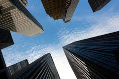 Skyscrapers in Manhattan, New York Royalty Free Stock Images