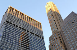 Skyscrapers in Manhattan at sunset, New York City, USA Royalty Free Stock Photo