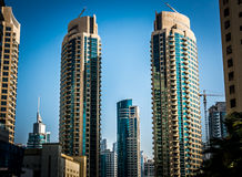 Skyscrapers in Marina District of Dubai Royalty Free Stock Image